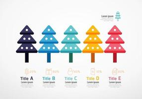 christmas tree resources infographic. business concept. vector