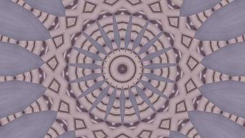 Grey Purple Petal with Stripped Rose Brown Kaleidoscope Background video
