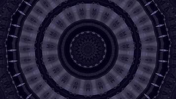Deep Violet Ring Over a Dark Blue Kaleidoscope Background video