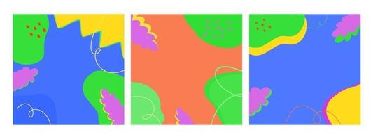 Set contemporary modern trendy illustrations of abstract background vector