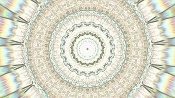 fond de kaléidoscope anneau beige chroma pâle video