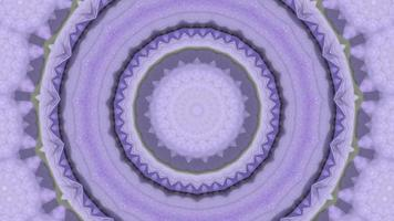 Warm Lilac Rings Over Soft Grey Kaleidoscope Background video