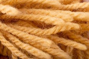 Fondo de cuerdas de fibra de cáñamo natural. foto