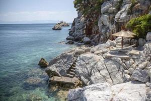 Pristine bay view of a greece island photo