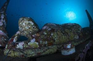 arrecife artificial submarino en bali. foto
