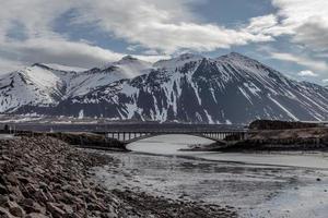 Mountains in Borgarnes Iceland photo