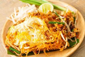 Pad Thai - stir fried noodles in Thai style with egg photo