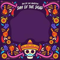 Day of The Dead Festival Background vector