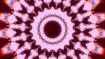 Rose Snowflake Chroma with Deep Red Kaleidoscope Background video