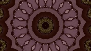 fondo de caleidoscopio de estrella de anillo de vino violeta opaco video