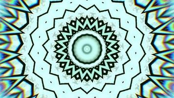 Artic Blue with Black Ring Accents Kaleidoscope Background video