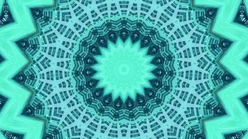 Neon Teal Star with Indigo Lattice Kaleidoscope Background video