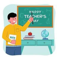 Happy Teacher's Day vector