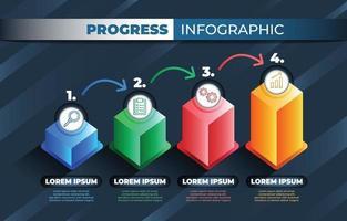Progress Infographic Background Template vector
