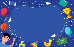 Children's Day Cartoon Background vector