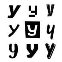 Small Letter Y Alphabet Design vector
