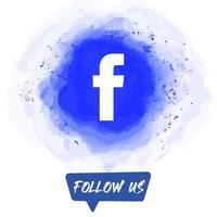 Watercolor Follow US Facebook Banner vector