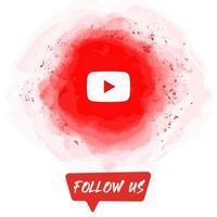 Watercolor Follow US YouTube Banner vector