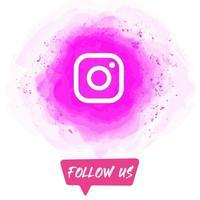 Watercolor Follow US Instagram Banner vector