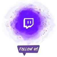 Watercolor Follow US Twitch Banner vector