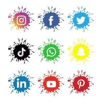 Creative Social Media Icon Collection vector