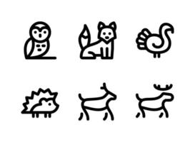 Simple Set of Autumn Related Vector Line Icons