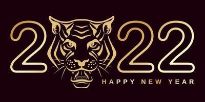 2022 with tiger head vector