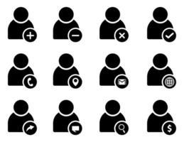 user icon set - vector illustration .