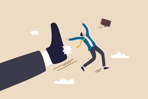 Being fired from work, company lay off or underperform employee vector