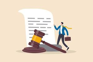 Legal document, attorney or court professional office, law. vector