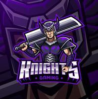 Knight sport mascot logo design vector