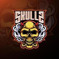 Skull devil mascot logo design vector