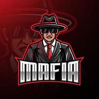 mafia esport mascot logo diseño de juegos vector