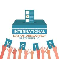 International democracy day many nationalities came to vote vector