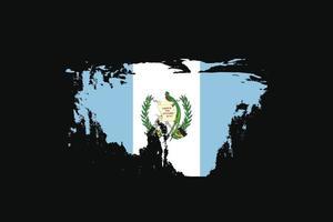 Bandera de estilo grunge de Guatemala. ilustración vectorial. vector