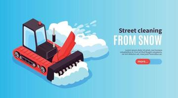 Street Snow Cleaning Banner vector