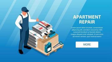 Apartment Repair Horizontal Banner vector