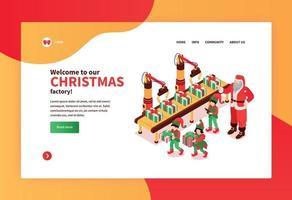 Christmas Factory Website Banner vector