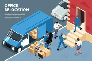Office Relocation Loading Composition vector