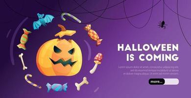 banner web de halloween vector