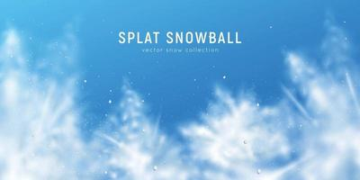 Realistic Snow Poster vector