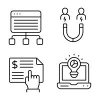 Digital Marketing Thin line icons vector
