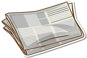 Sticker newspaper on white background vector