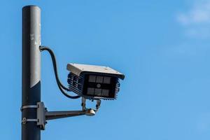 cámaras de vigilancia dentro de la ciudad foto