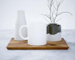 maqueta de taza de café con leche foto