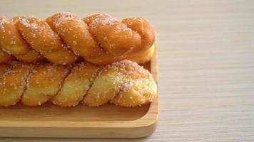Sugar donut in spiral shape video
