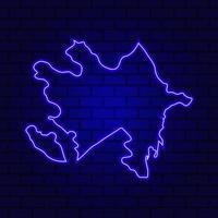 Azerbaijan glowing neon sign on brick wall background photo