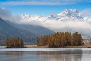 Lake of the Engadine valley near Sankt Moritz photo