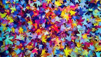 hojas de colores de otoño fondo de otoño, colores de otoño foto