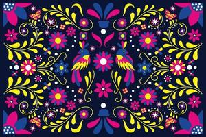 Flat design colorful mexican  background vector